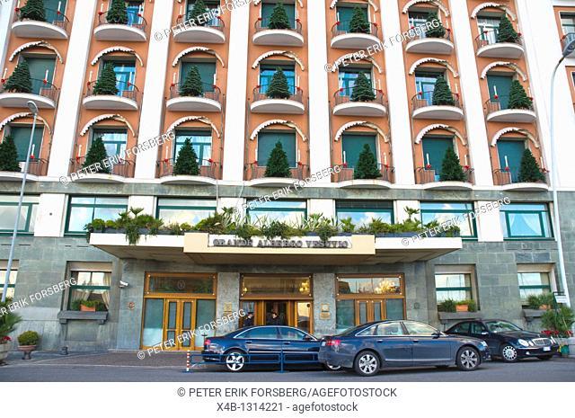 Hotel Grande Albergo Vesuvio along Via Partenope street Lungomare seaside drive Santa Lucia districtNaples Italy Europe