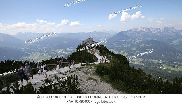 firo Land and People: Bavaria: Tourism Germany, Alps, Mountains: 31.07.2018 Eagles Nest The Kehlsteinhaus is a 1937 to 1938 built by the NSDAP after plans by...