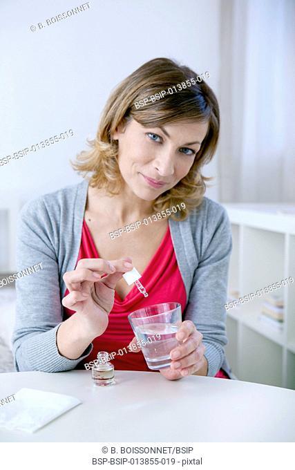 Herbal medicine, woman