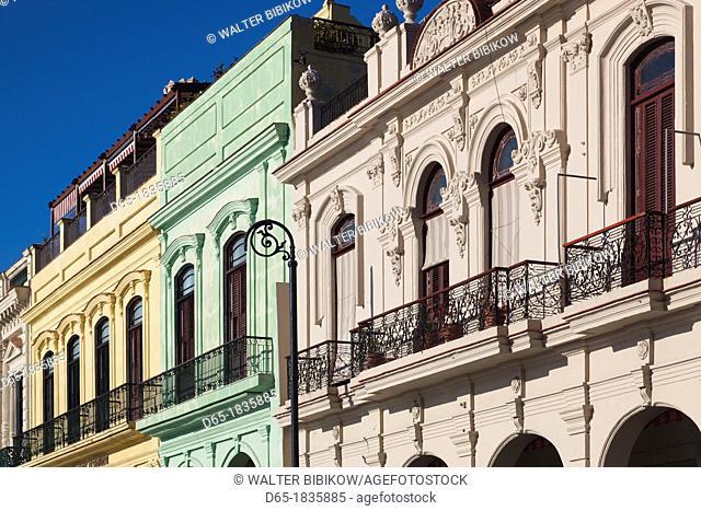 Cuba, Havana, Havana Vieja, harborfront buidings