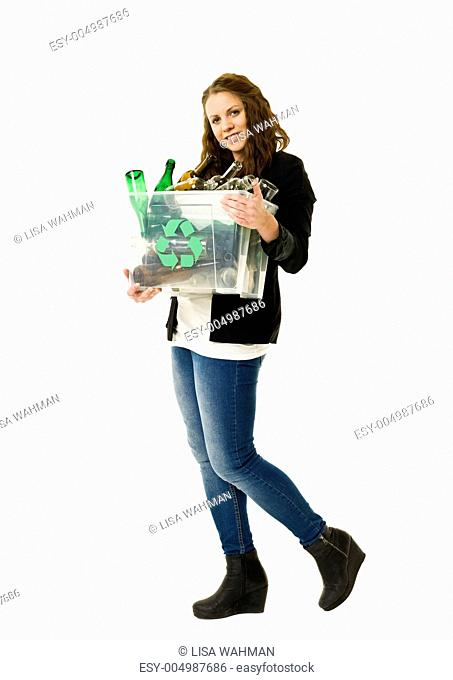 Glass Recycling woman