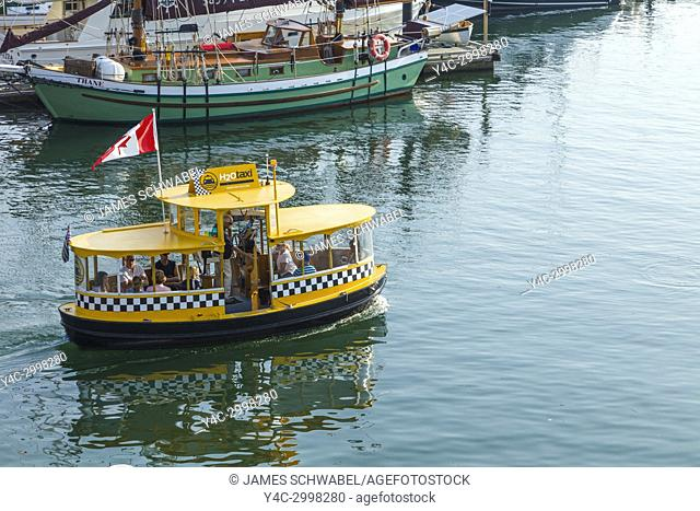 Water Taxi in Harbor in Victoria on Vancouver Island in British Columbia, Canada