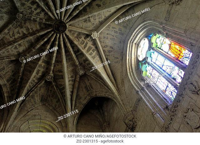 Vault, XVIth century. The Monastery of Santa Espina. Castromonte, Valladolid, Spain