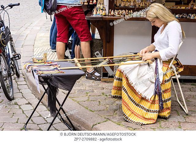 Kiel, Germany - June 24th 2016: Impressions from the International Market of the Kieler Woche 2016