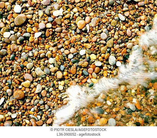 Pebbles on a sea shore