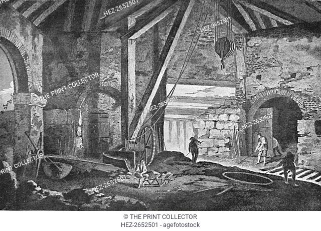'Interior of a Smelting-House at Broseley, Shropshire', 1788, (1904). After G. Robertson. From Social England, Volume V, edited by H.D. Traill, D.C.L