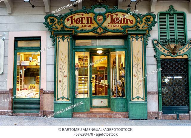 'Forn des Teatre' famous bakery. Palma de Mallorca. Majorca, Balearic Islands. Spain