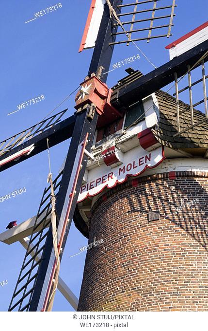 The Van Pieper windmill near the Dutch village Rekken