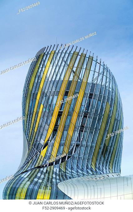 The City of Wine, Work of the french architects Anouk Legendre and Nicolas Desmazières, Bordeaux, Aquitaine, France, Europe