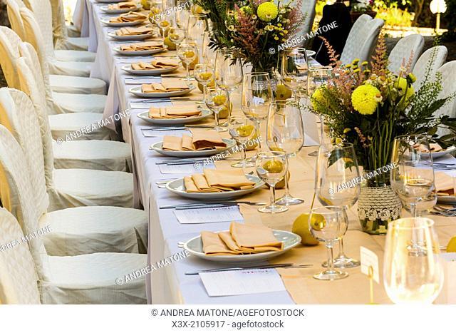Wedding matrimony table setting