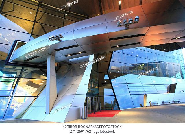 Germany, Bavaria, Munich, BMW Welt, BMW World, modern architecture,