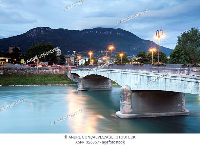 Adige River, Trento, Italy