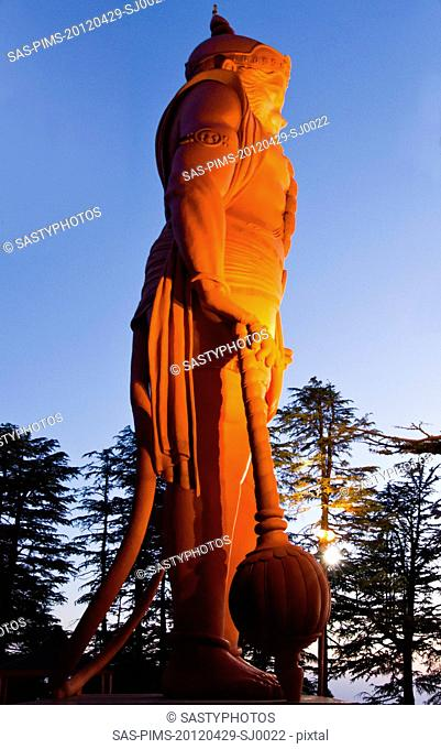 Lord Hanuman statue at Jakhoo Temple, Jakhoo Hill, Shimla, Himachal Pradesh, India