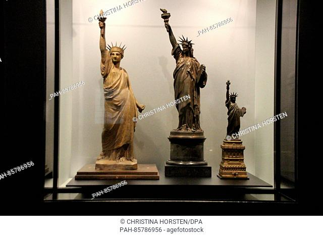 Models for the Statue of Liberty can bee seen in a display case in the Museum of the City of New York in Manhattan,New York, USA, 18 November 2016