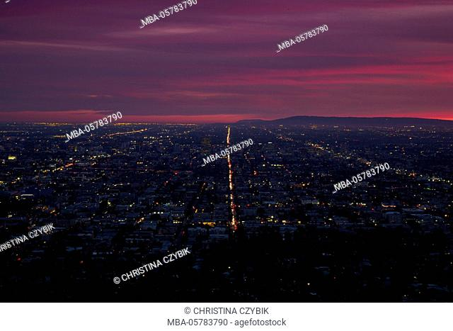 Downtown Los Angeles View from the Griffith Observatory