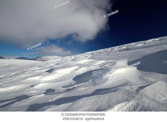 Winterlandschaft Dovrefjell Norwegen