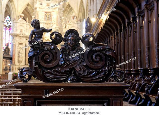 France, Haute Garonne, Toulouse, place Saint Etienne, Saint Etienne Cathedral, Stalls