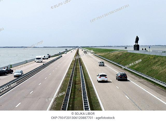The Afsluitdijk is a major causeway in the Netherlands, constructed between 1927 and 1933 and running from Den Oever on Wieringen in North Holland province