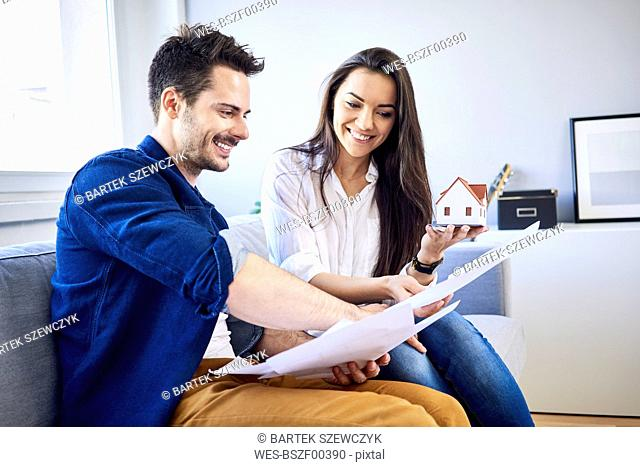 Couple planning new home together