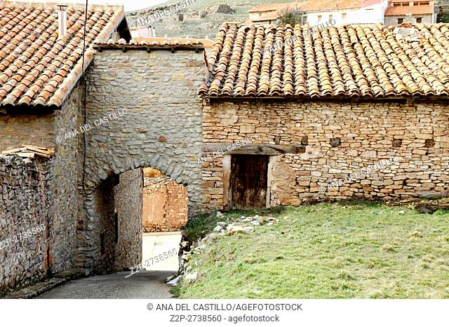 Monteagudo del Castillo is an old village in Teruel Spain