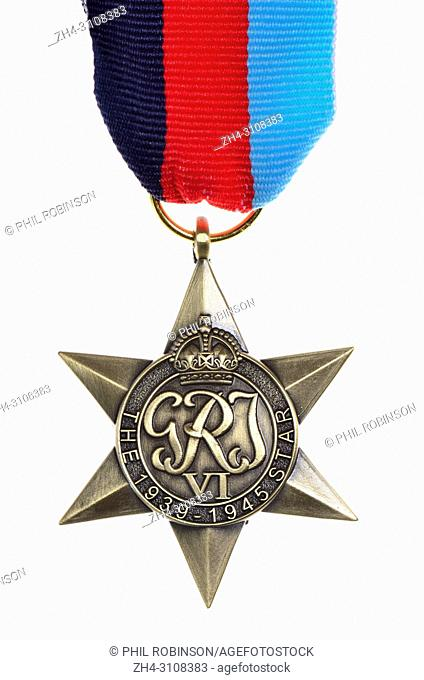 The 1939-1945 Star - Second World War medal instituted July 1943 for subjects of the British Commonwealth for service in the Second World War