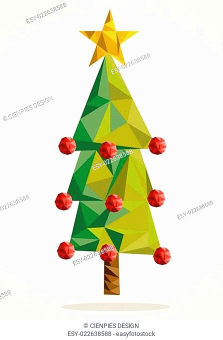 Merry Christmas tree triangle composition EPS10 file