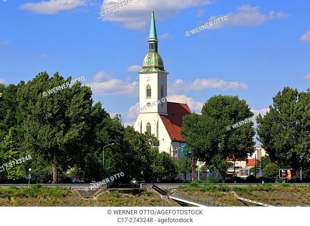 Slovak Republic, Slovakia, Bratislava, Capital City, Danube, Little Carpathians, St. Martins Cathedral, coronation church, catholic church, Gothic