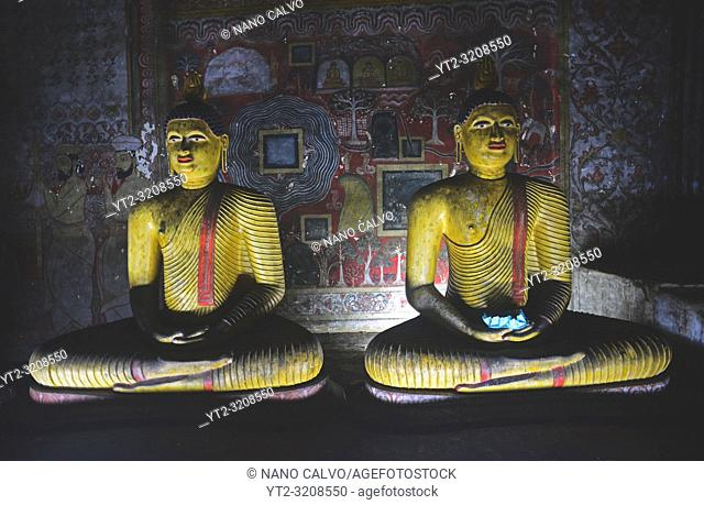 Dambulla cave temple or Golden Temple of Dambulla, World Heritage Site in Sri Lanka