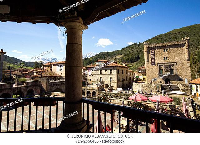 Torre del Infantado. Potes village. Liébana region, Picos de Europa, Cantabria Spain, Europe