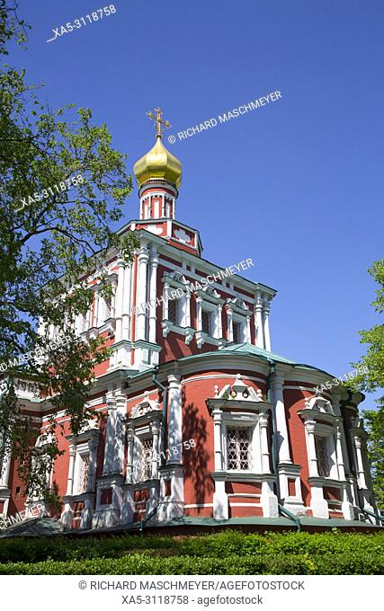 Assumption Church, Novodevichy Convent, UNESCO World Heritage Site, Moscow, Russia