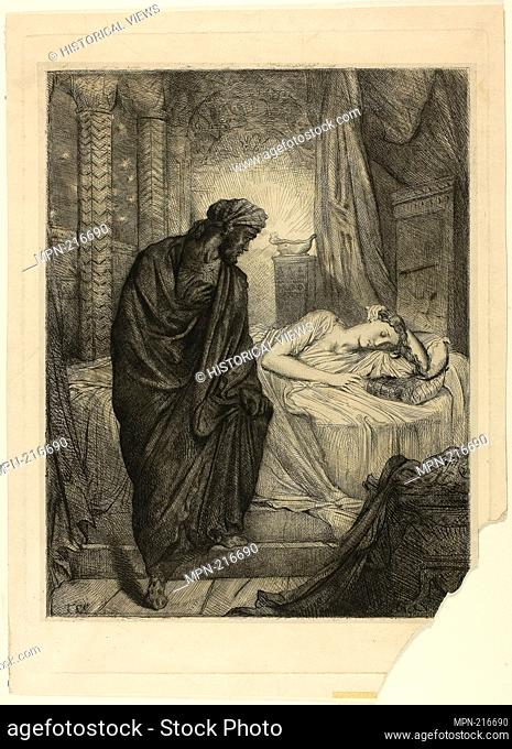 Yet She Must Die, plate eleven from Othello - 1844 - Théodore Chassériau French, 1819-1856 - Artist: Théodore Chassériau, Origin: France, Date: 1844