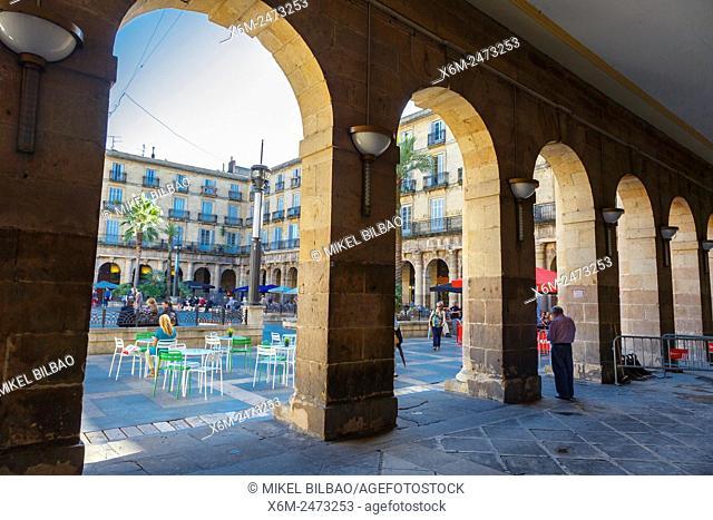 Plaza Nueva (New Square). Bilbao, Biscay, Spain, Europe