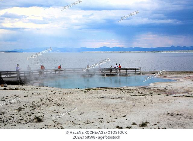 West thumb geyser basin in Yellowstone national park, Wyoming, USA