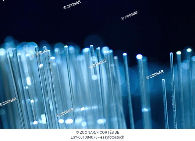 Optical fiber picture with details and light effects