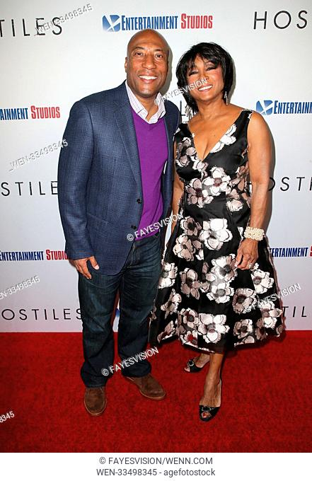 Premiere Of Entertainment Studios Motion Pictures' 'Hostiles' Featuring: Byron Allen, Carolyn Folks Where: Beverly Hills, California