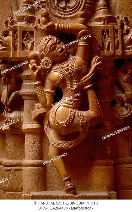 woman Dancing sculpture on Jain temple, jaisalmer, Rajasthan, India, Asia