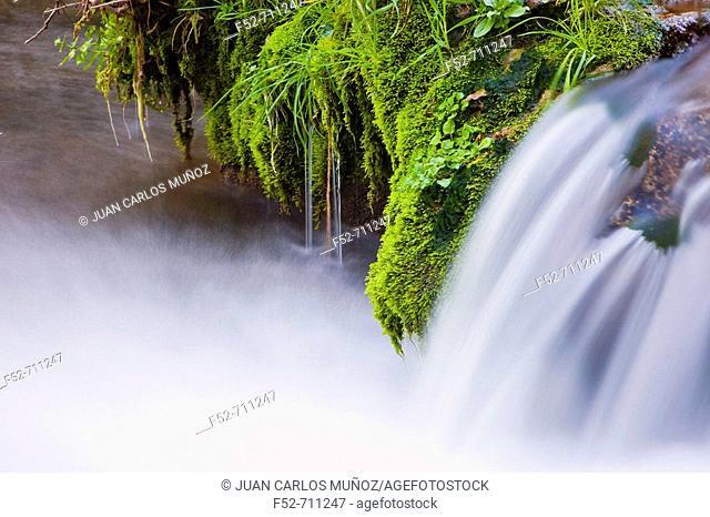 Natural Monument waterfalls of Huesna. Sierra Morena. Natural Park of 'Sierra Norte'. Spain