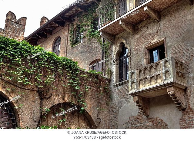 balcony of Juliet, Verona, Veneto, Italy
