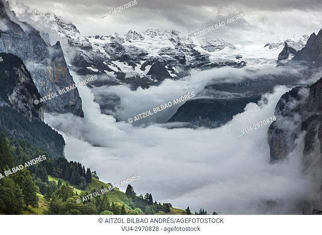 The paradise in the alps. Lauterbrunnen valley, Switzerland. An incredible place