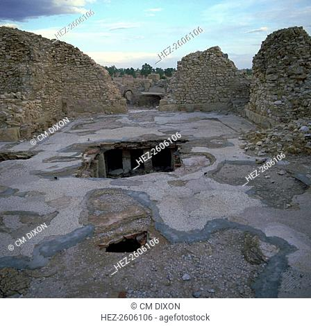 Hypocaust in a Roman bath house in the Roman town of Sufetula, 2nd century