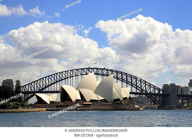 Opera and Harbour Bridge, Sydney, New South Wales, Australia