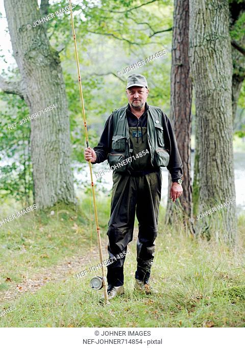 Portrait of an angler, Sweden