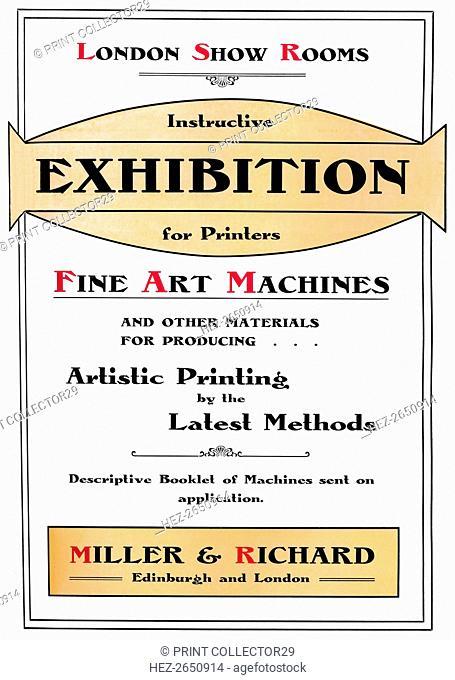 'London Show Rooms - Instructive Exhibition for Printers', 1907. Artist: Miller & Richard