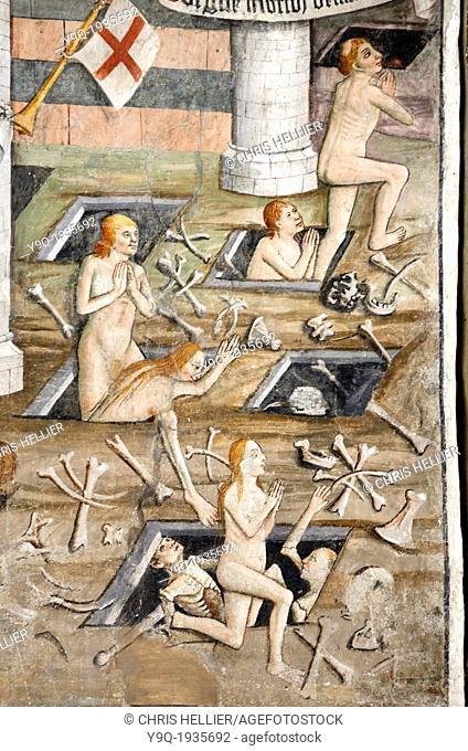 Call to Judgement Fresco (1492-1530) Notre Dame des Fontaines La Brigue Roya Valley Alpes-Maritimes France