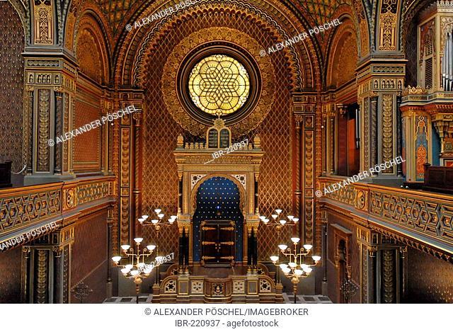 Jewish quarter, spanish synagogue, interior, Prague, Czech Republic