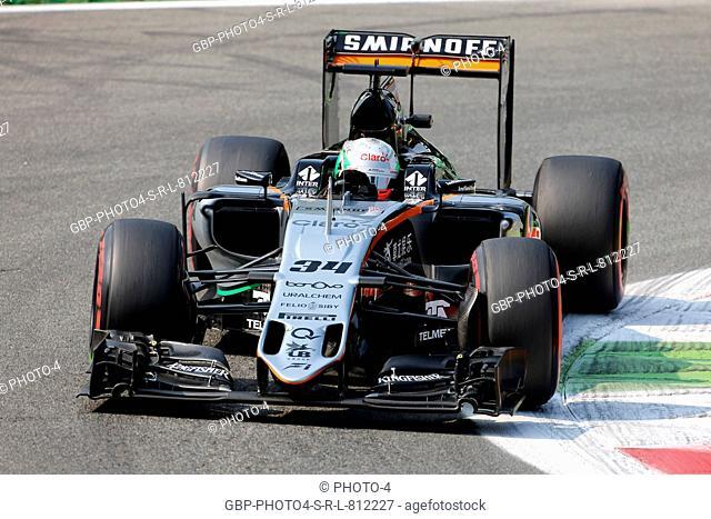 02.09.2016 - Free Practice 1, Alfonso Celis (MEX) Test Driver, Sahara Force India Team