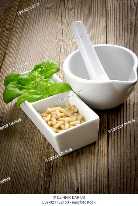 Pesto and mortar