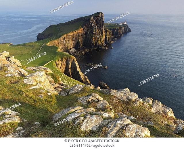 Neist Point lighthouse. Isle of Skye. Scotland