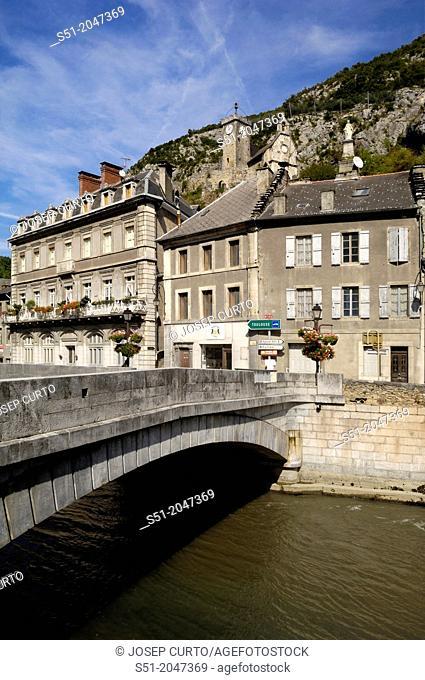 Saint Beat and Garona river, Midi Pyrenee, France