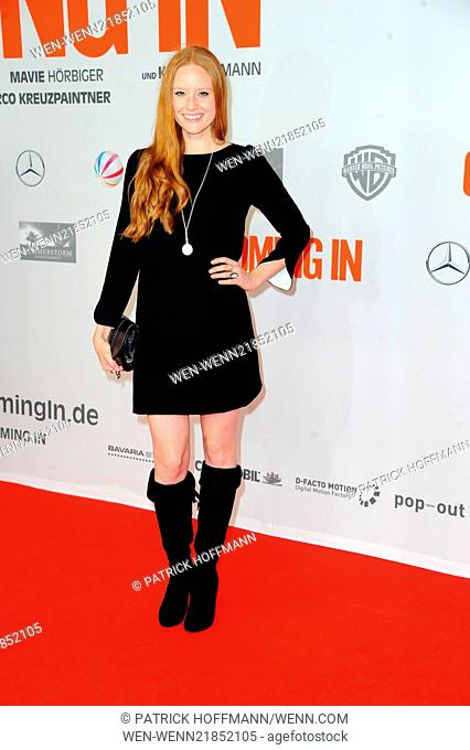World premiere of 'Coming In' at Cinemaxx movie theatre at Potsdamer Platz square. Featuring: Barbara Meier Where: Berlin